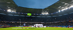 12.05.2010, Hamburg Arena, Hamburg, GER, UEFA Europa League Finale, Atletico Madrid vs Fulham FC im Bild Stadionübersicht vor dem Spiel, EXPA Pictures © 2010, PhotoCredit: EXPA/ J. Feichter / SPORTIDA PHOTO AGENCY