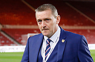 England's U21 Manager Aidy Boothroyd during the U21 UEFA EURO first qualifying round match between England and Scotland at the Riverside Stadium, Middlesbrough, England on 6 October 2017. Photo by Paul Thompson.