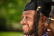 CSF-DC's scholarship recipient Ke'Von Miles on his graduation day at The University of Connecticut on Sunday, May 10, 2015. (Chris English/Artisan Image)