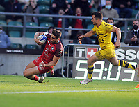 Rugby Union - 2020 / 2021 European Rugby Heineken Champions Cup - Final - Toulouse vs La Rochelle - Twickenham<br /> <br /> Juan Cruz Mallía of Tououse dives over fo his 2nd half try<br /> <br /> CreditCOLORSPORT/ANDREW COWIE