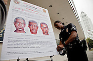 """LAPD and city officials hold a press conference to announce the capture of the """"Grim Sleeper"""" serial murder suspect, Lonnie David Franklin jr.<br /> Franklin will be charged with 10 counts of murder, and one count of attempted later today."""