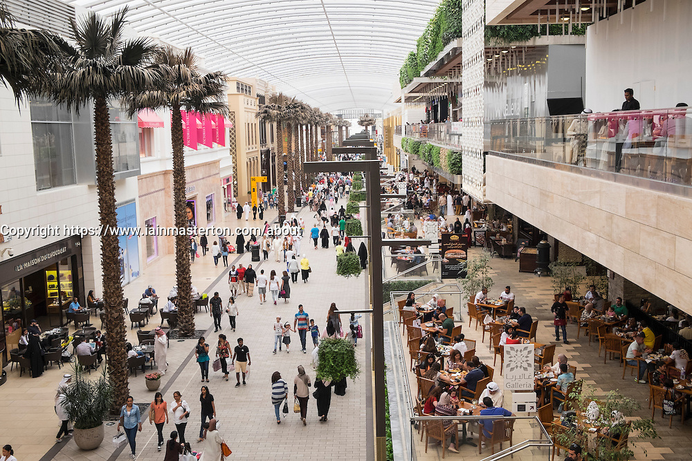 Interior of The Avenues modern upmarket shopping mall in Kuwait City, Kuwait.