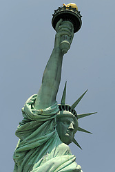 A view of the Statue of Liberty on Liberty Island, in New York City, NY, USA on July 2, 2018. The 26,000 square-foot museum will celebrate the history of the Statue of Liberty and will be home to the original torch. Photo by Dennis Van Tine/ABACAPRESS.COM