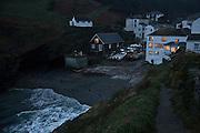 Portloe at dusk, Cornwall, UK