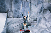 """Danica Gagnon-Plamondon practices during rehearsal for """"Cirque du Soleil: CRYSTAL"""" at the Alliant Energy Center in Madison, WI on Wednesday, May 1, 2019."""