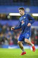 Chelsea midfielder Mateo Kovacic (17) warms up prior to the The FA Cup fourth round match between Chelsea and Sheffield Wednesday at Stamford Bridge, London, England on 27 January 2019.