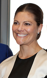© Licensed to London News Pictures . H.R.H. Crown Princess Victoria visits  Level39, Europe's largest FinTech accelerator space, at Canary Wharf, London. (07/11/2013) . Photo credit : LNP