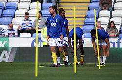 Birmingham City's Gary Gardner warming up