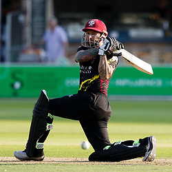 Somerset's Peter Trego <br /> <br /> Photographer Simon King/Replay Images<br /> <br /> Vitality Blast T20 - Round 1 - Somerset v Gloucestershire - Friday 6th July 2018 - Cooper Associates County Ground - Taunton<br /> <br /> World Copyright © Replay Images . All rights reserved. info@replayimages.co.uk - http://replayimages.co.uk