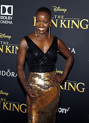 Florence Kasumba at the World premiere of 'The Lion King' held at the Dolby Theatre in Hollywood, USA on July 9, 2019.
