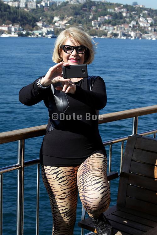 woman making a selfie