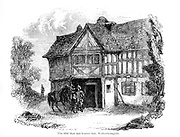 The Old Star and Garter Inn, Wolverhampton From the book The wanderings of a pen and pencil by Palmer, F. P. (Francis Paul); Illustrated by Crowquill, Alfred, [Alfred Henry Forrester]  Published in London by Jeremiah How in 1846