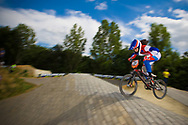 #39 (CARR Amanda) THA at the 2014 UCI BMX Supercross World Cup in Berlin, Germany.