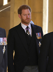 The Duke of Sussex ahead of the funeral of the Duke of Edinburgh at Windsor Castle, Berkshire. Picture date: Saturday April 17, 2021.