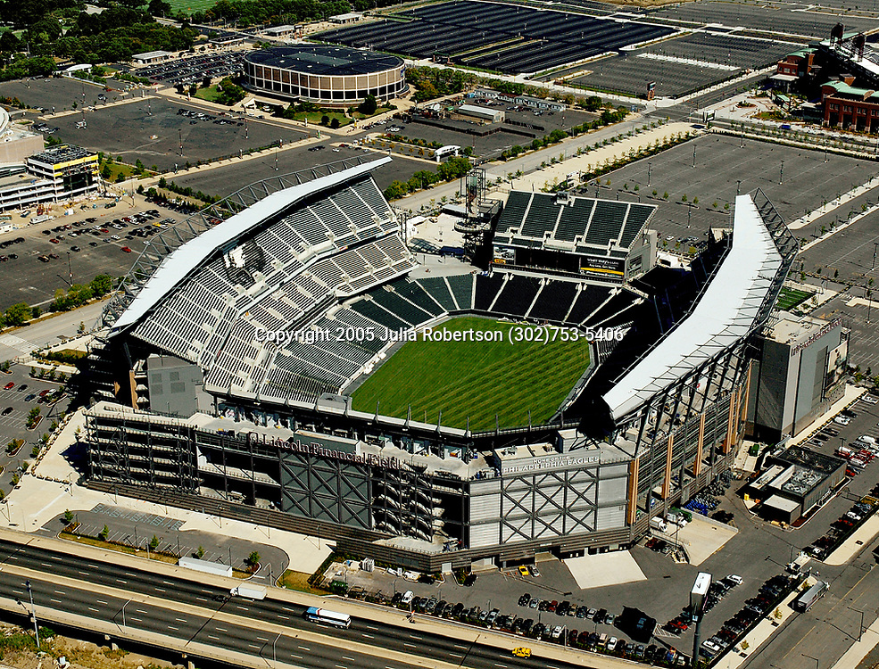 Aerial of Lincoln Financial Field, Home of the Philadelphia Eagles, and Spectrum