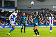 Yves Bissouma (Brighton) & Wes Hoolahan (West Brom) during the FA Cup fourth round match between Brighton and Hove Albion and West Bromwich Albion at the American Express Community Stadium, Brighton and Hove, England on 26 January 2019.