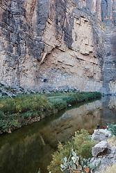 Reflections of Rio Grande River and Santa Elena Canyon, Big Bend National Park, Texas, USA.