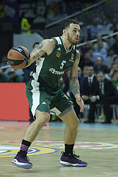 April 25, 2018 - Madrid, Madrid, Spain - JAMES  MIKE of Panathinaikos Superfoods in action against  during the Turkish Airlines Euroleague play-off quarter final series third match between Real Madrid and Panathinaikos Superfoods at the Wizink Center in Madrid, Spain on April 25, 2018  (Credit Image: © Oscar Gonzalez/NurPhoto via ZUMA Press)