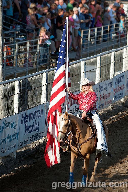 Queen Makayla Jamison. Vale 4th of July Rodeo, Vale Rodeo Arena, Vale, Oregon, July 3, 2015.