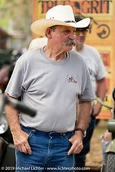 Stacy McCleary at Warren Lane's True Grit Antique Gathering bike show at the Broken Spoke Saloon in Ormond Beach during Daytona Beach Bike Week, FL. USA. Sunday, March 10, 2019. Photography ©2019 Michael Lichter.