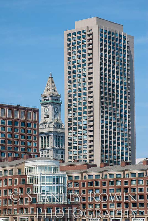 Customs House Tower, Boston Waterfront, Financial District Boston, Skyscrapers