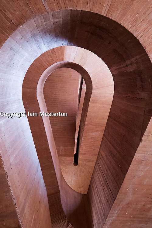 Interior staircase at Kuppersmuhle Museum in Duisburg Germany