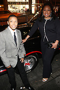 Russell Simmons( nephew of Russell Simmons) and Justine Simmons at The Life Project for Africa Benefit for the NJIA Health Center in Tanzania, Africa and held at Ben and Jack's Restaurant on November 10, 2009 in New York City