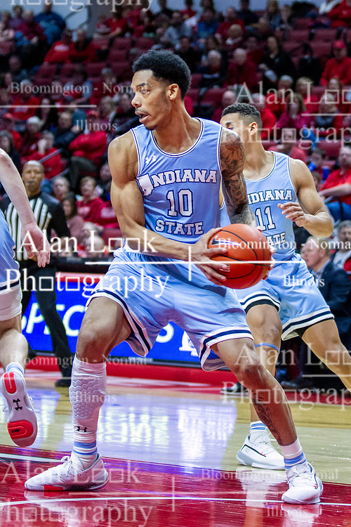 NORMAL, IL - February 08:  Christian Williams during a college basketball game between the ISU Redbirds and the Indiana State Sycamores on February 08 2020 at Redbird Arena in Normal, IL. (Photo by Alan Look)