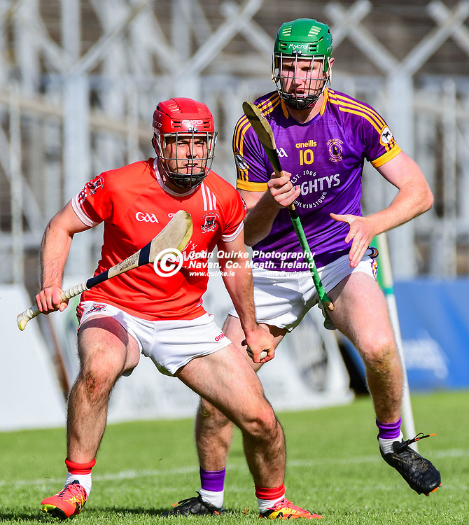 Trim's Ciaran O'Rourke looks for a team mate to pass to,   in the Trim v Wolfe Tones IHC Semi- Final match at Páirc Tailteann, Navan.<br /> <br /> Photo: GERRY SHANAHAN-WWW.QUIRKE.IE<br /> <br /> 26-09-2020