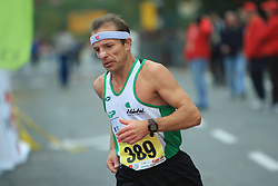 Stanislav Ilar v cilju na 13. Ljubljanskem maratonu po ulicah Ljubljane, 26. oktobra 2008, Ljubljana, Slovenija. (Photo by Vid Ponikvar / Sportal Images)./ Sportida)