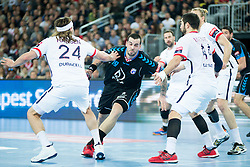 Tonci Valcic #24 of PPD Zagreb and Leon Susnja #19 of PPD Zagreb during handball match between PPD Zagreb (CRO) and Paris Saint-Germain (FRA) in 11th Round of Group Phase of EHF Champions League 2015/16, on February 10, 2016 in Arena Zagreb, Zagreb, Croatia. Photo by Urban Urbanc / Sportida