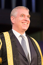 © Licensed to London News Pictures. 13/07/2015. Huddersfield, UK. File picture taken 13/07/2015 of Prince Andrew the Duke Of York taking over as Chancellor of Huddersfield University from Sir Patrick Stewart. Students at Huddersfield University have launched a campaign for Prince Andrew to resign as chancellor, saying he is 'not the sort of role model students should have'. The student union voted to campaign for the Duke of York to stand down as the ceremonial head following the fallout from his disastrous BBC interview. Photo credit: Andrew McCaren/LNP