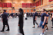 TORONTO. June 13, 2015 - Dancers walked in a circle around performer Denise Fujiwara during rehearsals for Apocalypsis.