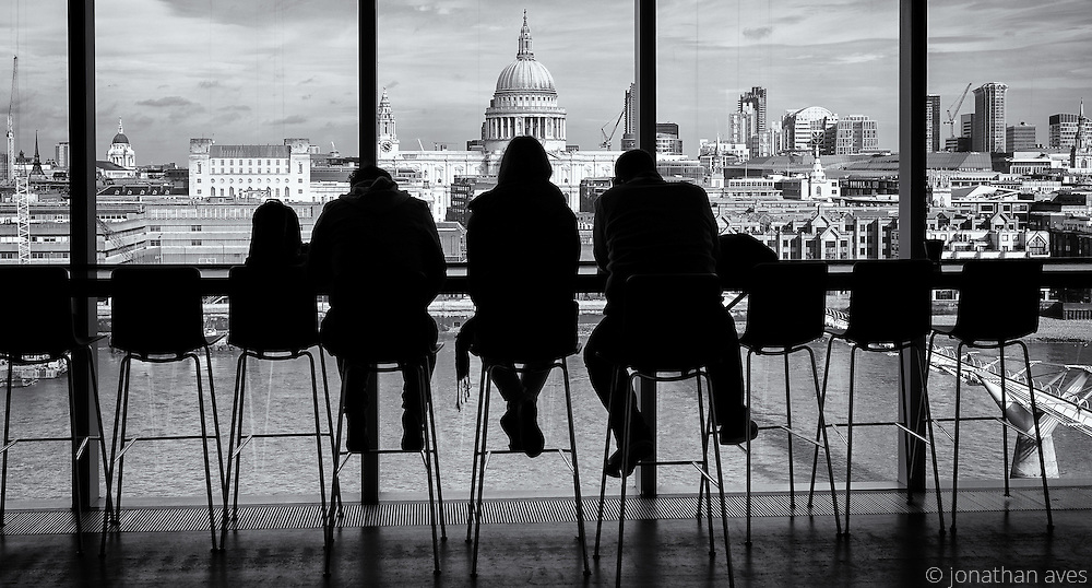 A view of St Paul's Cathedral from the Tate Modern art gallery, London