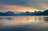 Sunrise over Lake McDonald Glacier National Park Montana