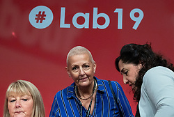 © Licensed to London News Pictures . 23/09/2019. Brighton, UK. JENNIE FORMBY pictured on the stage during the third day of the 2019 Labour Party Conference at the Brighton Centre . Photo credit: Joel Goodman/LNP