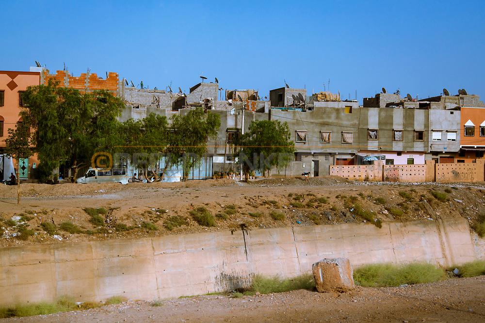 06-10-2015 -  Foto van Huizen staan dicht op elkaar bij De stad van Marrakech in Marrakech, Marokko.