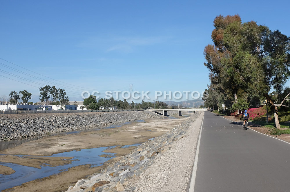 San Diego Creek Bike Trail in Irvine