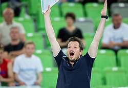 Luka Slabe, head coach of Slovenia during volleyball match between National teams of Slovenia and F.Y.R. Macedonia in Qualifications for 2015 CEV Volleyball European Championship - Men on May 24, 2014 in Arena Stozice, Ljubljana, Slovenia. Photo by Vid Ponikvar / Sportida