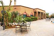 A hotel in Erfoud (Arfoud) an oasis town in the Sahara Desert, Morocco