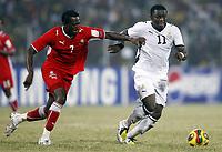 Fotball<br /> Afrika mesterskapet 2008<br /> Foto: DPPI/Digitalsport<br /> NORWAY ONLY<br /> <br /> FOOTBALL - AFRICAN CUP OF NATIONS 2008 - QUALIFYING ROUND - GROUP A - 24/01/2008 - GHANA v NAMIBIA - SULLEY MUNTARI (GHA) / COLLIN BANJAMIN (NAM)