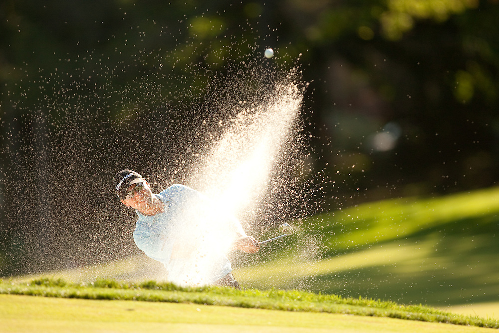 NEWTOWN SQUARE, PA - JULY 2: Sean O'Hair plays a shot during the second round of the AT&T National Classic at Aronimink Golf Club on July 2, 2010 in Newtown Square, Pennsylvania. (Photo by Darren Carroll) *** Local Caption *** Sean O'Hair