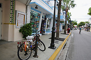 Green transport by bicycle at Key West, Florida, USA