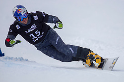 Benjamin Karl (AUT) during Final Run at Parallel Giant Slalom at FIS Snowboard World Cup Rogla 2019, on January 19, 2019 at Course Jasa, Rogla, Slovenia. Photo byJurij Vodusek / Sportida