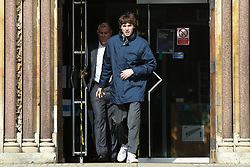 © Licensed to London News Pictures. 09/03/2020. London, UK. LIAM GALLAGHER's son, GENE GALLAGHER leaves Wood Green Crown Court. He along with RINGO STARR'S grandson SONNY STARKEY and IMG model NOAH PONTE have been charged with affray and and racially aggravated common assault following a late-night incident at a Tesco Express store on Heath Street in Hampstead on May 17 2019. The jury trail is set for Jan 2021. Photo credit: Dinendra Haria/LNP