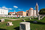St. Donatus Church and Roman forum, Old Town Zadar, Dalmatian Coast, Croatia