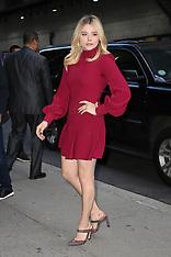 Chloë Grace Moretz seen arriving at the Stephen Colbert Show - 2 Aug 2018
