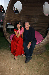 DAVID GILMOUR and POLLY SAMPSON at the Serpentine Gallery Summer party sponsored by Yves Saint Laurent held at the Serpentine Gallery, Kensington Gardens, London W2 on 11th July 2006.<br /><br />NON EXCLUSIVE - WORLD RIGHTS