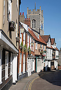Princess Street and St George church, Tombland, Norwich, England