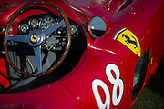 August 14-16, 2012 - Pebble Beach / Monterey Car Week. Ferrari steering wheel detail